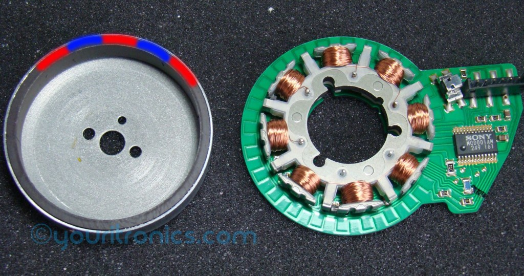 inside of a SONY brushless dc motor