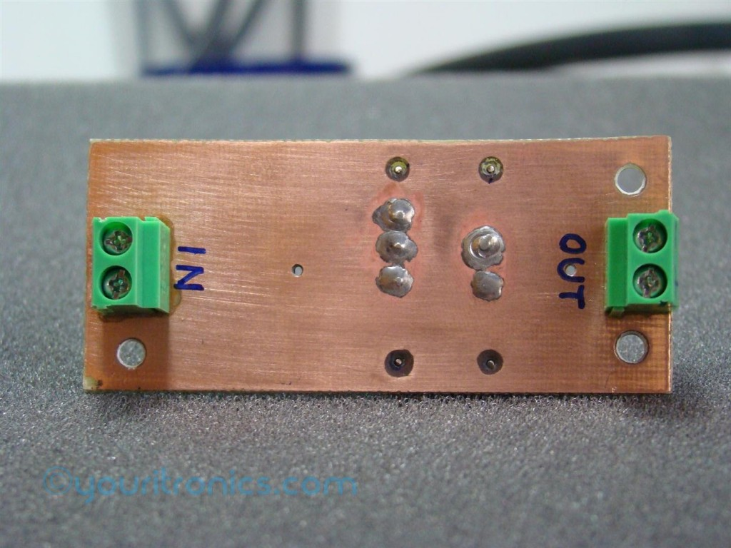 TPS54232 constant current source pcb back side