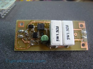 TPS54232 constant current source covered in glue
