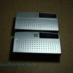 two 10/100 ethernet switches