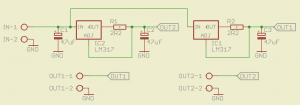 Dual LM317 constant current source schematic