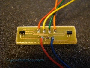 TMP121 temperature sensor PCB
