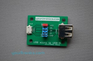 USB to USB micro bridge